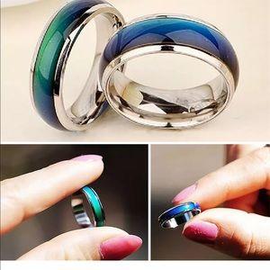 Titanium Mood Temperature Feeling Ring NEW